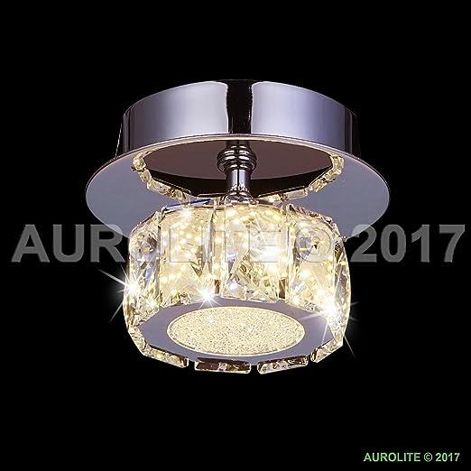 Polo modern led crystal semi flush ceiling light 15w 3000k warm polo modern led crystal semi flush ceiling light 15w 3000k warm white 1350lumens aloadofball Gallery