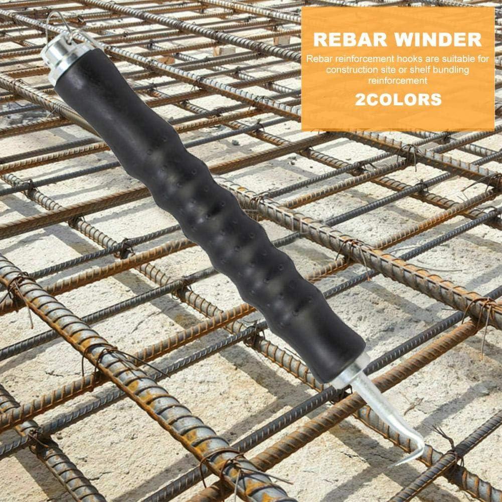 Sue-Supply Rebar Hook Semi-Automatic Wire Twister Steel Bar Hook Steel Wire Winder Retr/áctil Alambre de Acero Atar Flejes Herramientas de la m/áquina