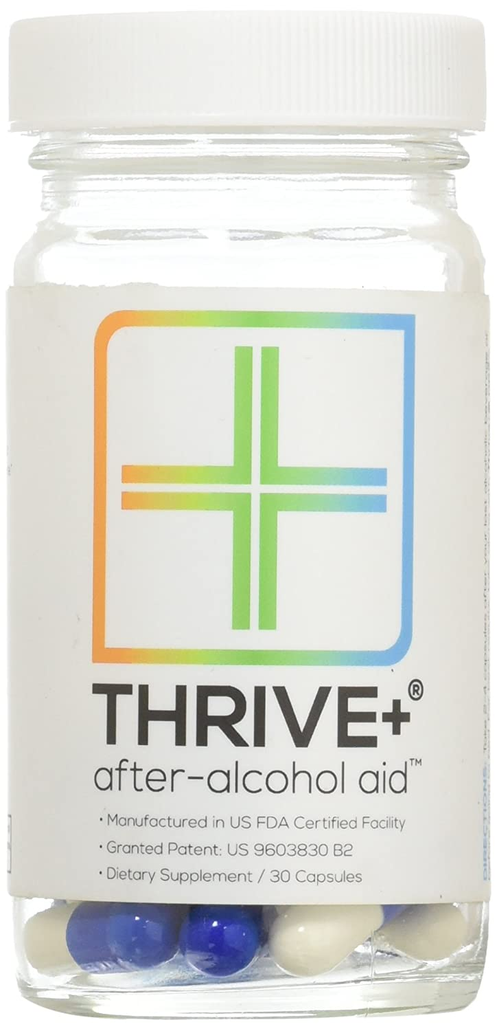 Thrive+® After-Alcohol Aid™: Reduce Alcohol's Negative Health Effects  (Patented)  Invented by Princeton