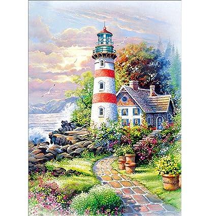 Amazon.com: 5D Diamond Painting, Staron Lighthouse Diamond ... on lighthouse embroidery clip art, lighthouse quilts, lighthouse stencil designs, lighthouse cake designs, lighthouse clothing for women, lighthouse home designs, lighthouse painting designs, lighthouse embroidery kits, lighthouse art designs, lighthouse tumblr,