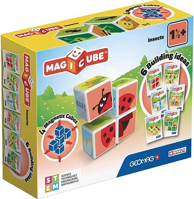 Geomag- Magicube Juguete de construcción, Multicolor, 4 Piezas (603) , color/modelo surtido: Amazon.es: Juguetes y juegos