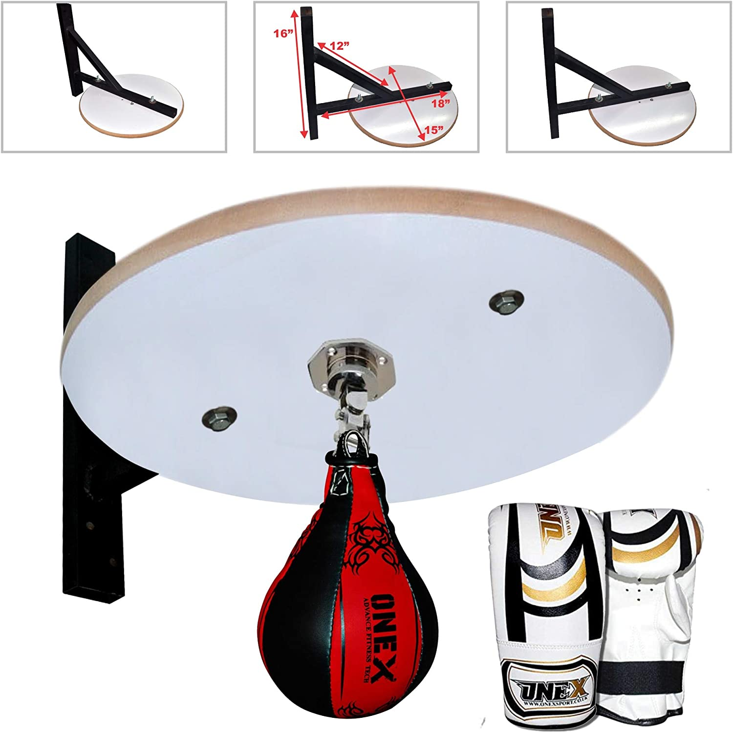 Single end Ball Adult Platform Training Set MMA Swivel Stand Hand Support Wraps