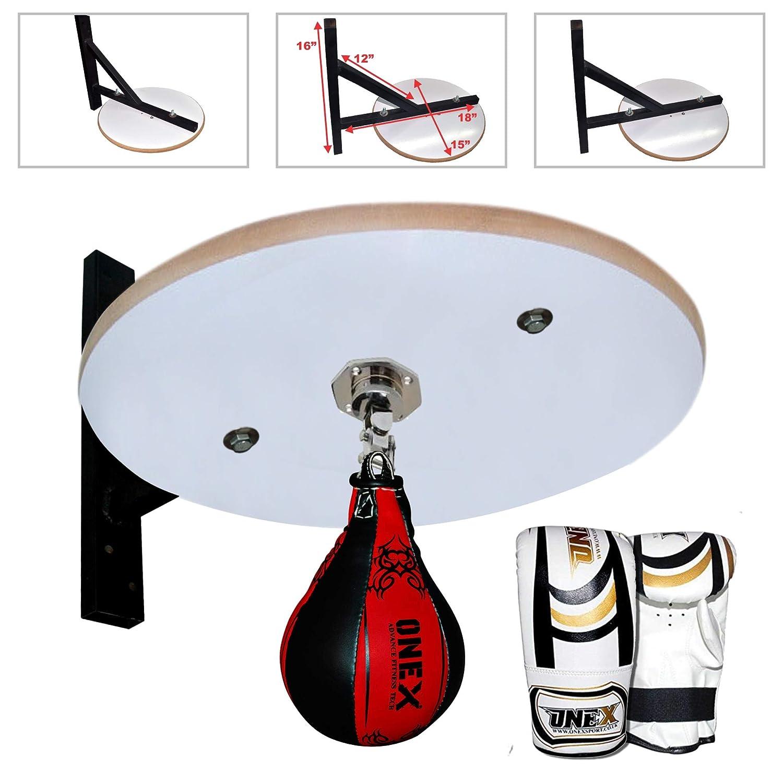 Speed Ball Platform Speed Bag Frame Boxing MMA Workout Wall Mounted