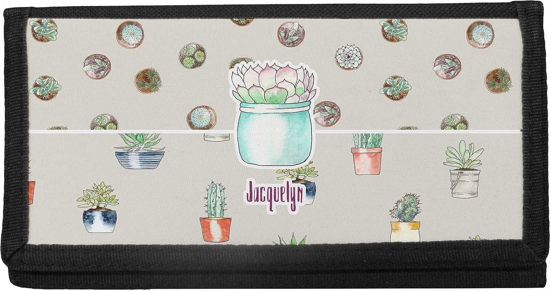 Personalized Cactus Canvas Checkbook Cover