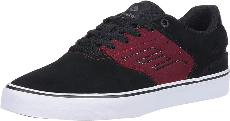 Emerica Reynolds Low Vulc Sneakers Damen Herren Unisex Schwarz/Rot (Brombeere)