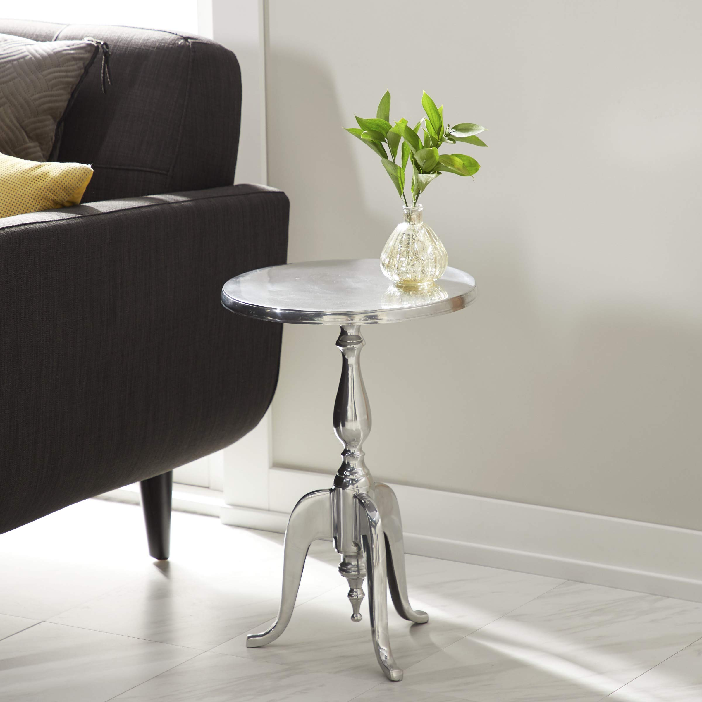 Deco 79  Accent Table, 22'' x 15'', Silver by Deco 79