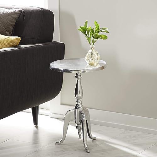 Deco 79 Accent Table, 22 x 15 , Silver
