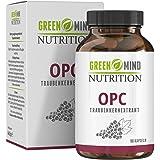 Premium OPC Traubenkernextrakt Kapseln - 600 mg Traubenkernextrakt pro Kapsel - Laborgeprüfte Premium Qualität - vegan - 3 Monate Vorrat vom deutschen Hersteller Green Mind Nutrition
