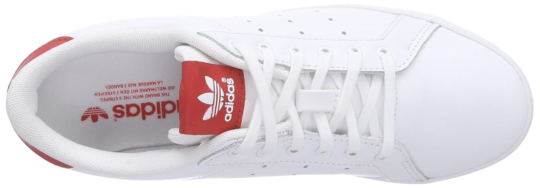 premium selection fdd4b b4432 adidas Originals Miss Stan M19537, Damen Low-Top Sneaker, Weiß (Ftwr  WhiteFtwr WhiteCollegiate Red), EU 36 Amazon.de Schuhe  Handtaschen