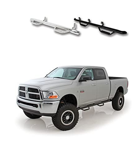 Gloss Black Smittybilt D0289QC Nerf Steps for 2002-2008 Dodge Ram 1500 2500 3500 Quad Cab 4-Door with 6.6 Bed Pair