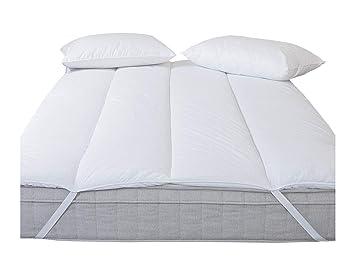 Cubrecolchón magnético para aliviar dolores y molestias durante el sueño, Blanco, Matrimonio Reino Unido (150 x 200 cm): Amazon.es: Hogar