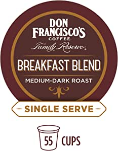 Don Francisco's Breakfast Blend (55 Count) Recyclable Single-Serve Coffee Pods, Compatible with Keurig K-Cup Brewers
