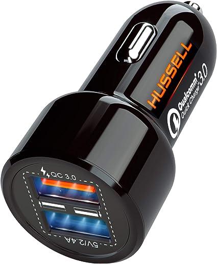 Mini Dual USB Car Charger 5.4A//30W for iPhone XS//MAX//XR//X//8//7//6//Plus iPad Pro//Air//Mini Samsung Galaxy S10//S9//S8//S7//S6,Note9//Note8,Nexus,etc Quick Charge 3.0 USB Car Charger Adapter