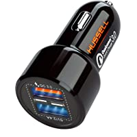 HUSSELL Car Charger - Qualcomm Quick Charge 3.0 - Dual USB 5.4A/30W Fast Car Charger...