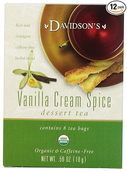 Davidson's Tea Vanilla Cream Spice, 8-Count Tea Bags (Pack of 12)