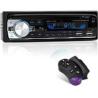 Autoradio Bluetooth, CENXINY 1-DIN Radio Voiture Récepteur avec Lecteur MP3 WMA FM, Deux USB Port,Main Libre Stéréo 4 x 65W Soutien iOS, Android