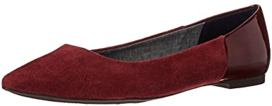 Dr. Scholl's Shoes Women's Sidney Flat, Wine Microsuede, ...