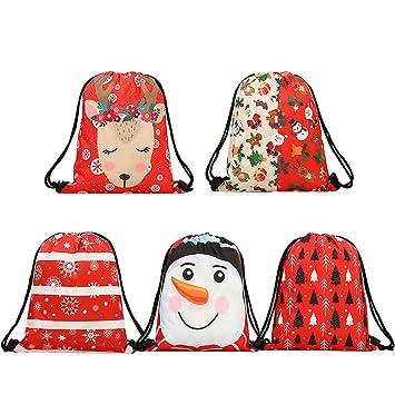 Amazon.com: FinerMe - Bolsas de Navidad con cordón para ...