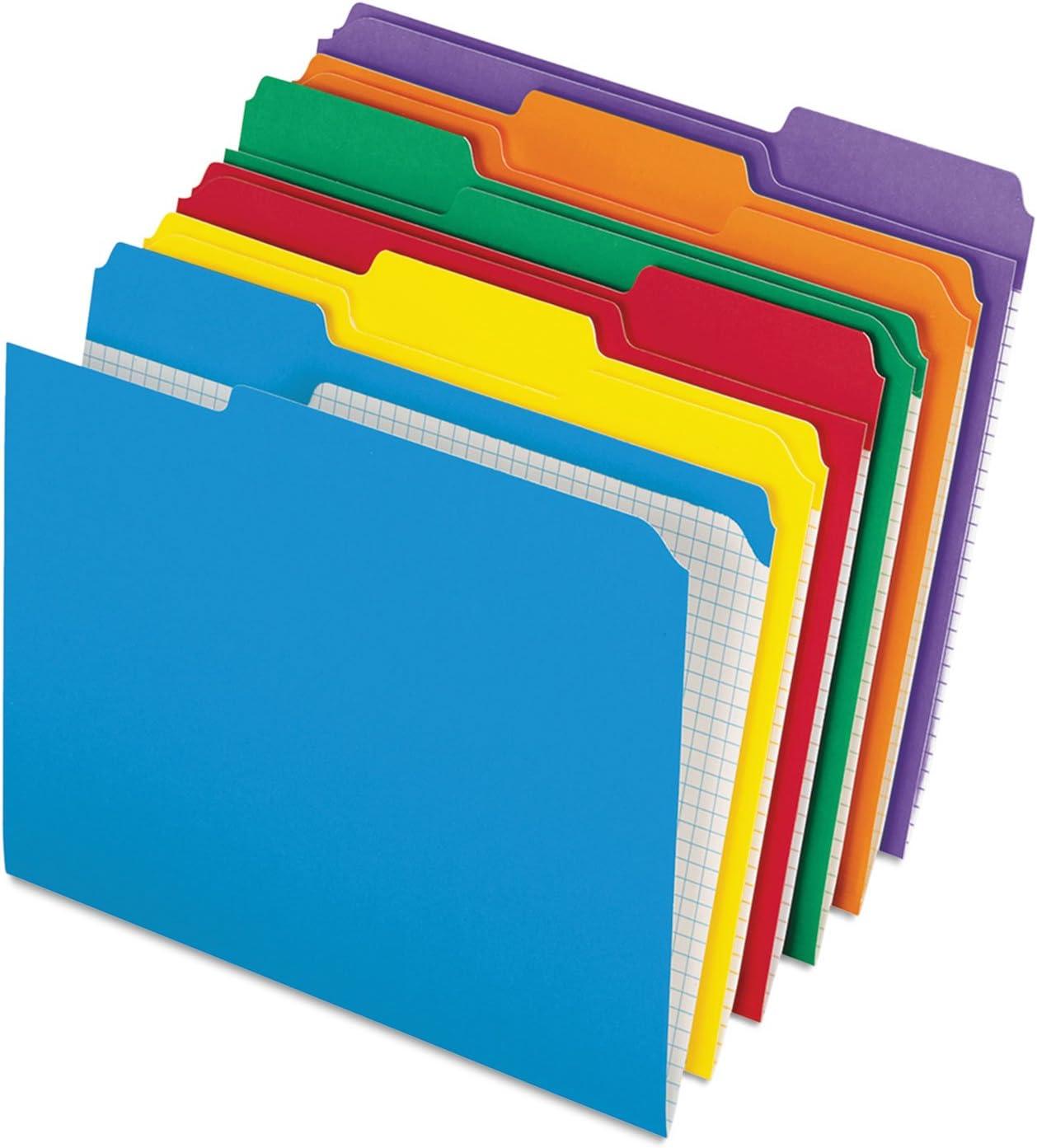 Rapid – 二重補強ファイルフォルダ、1 / 3カットTopタブ、手紙、アソートカラー、100 /ボックス