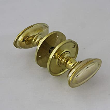 13 Available Solid Brass Antique Door Knobs ONE Pair of High Quality Repro
