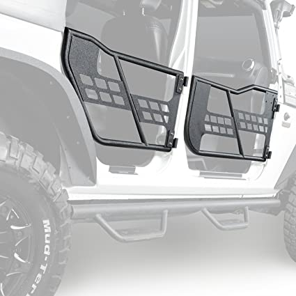 Hooke Road Rock Crawler Front U0026 Rear Tubular Door Guards For 2007 2018 Jeep  Wrangler