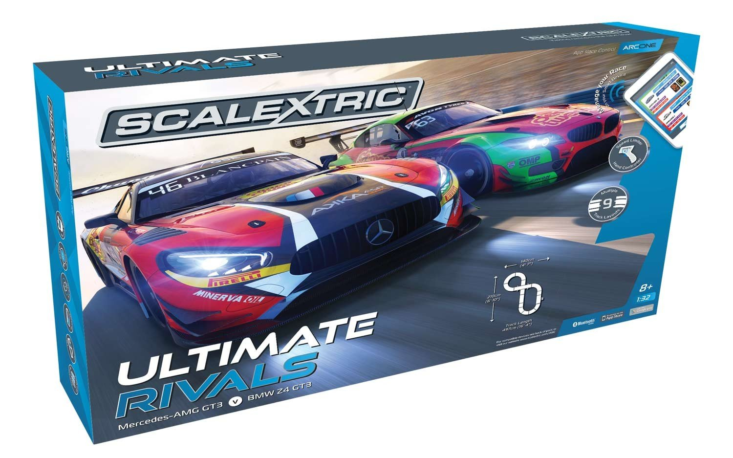 Scalextric C1356T ARC ONE Ultimate Rivals Slot Car Set by Scalextric (Image #2)