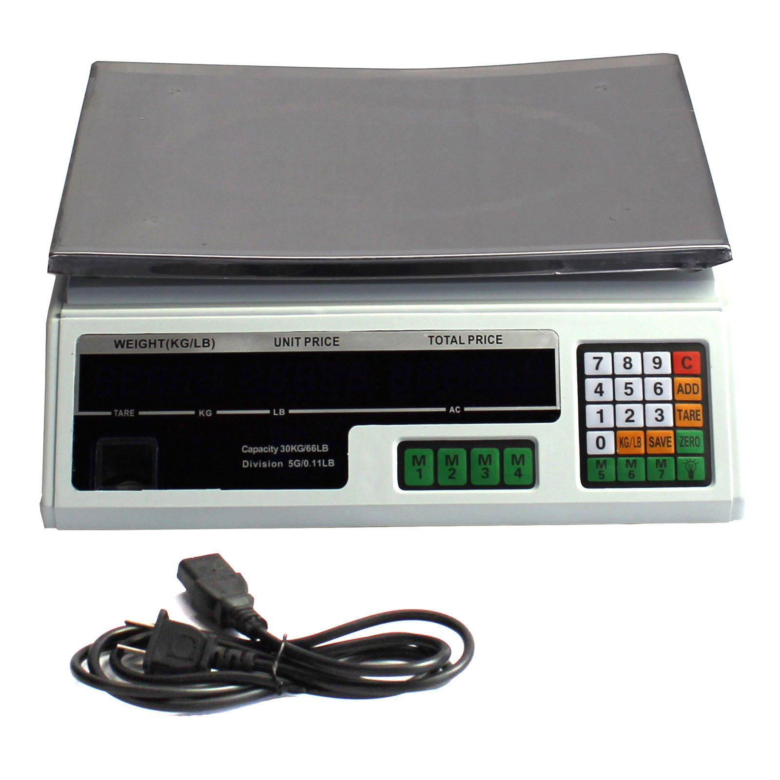 Digital Deli Weight Scale Price Computing Food Produce 60LB ACS-03