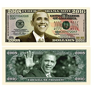 American Art Classics Pack of 5 - Barack Obama 2008-2016 Commemorative Dollar Bills - Collectible Novelty Million Dollar Bills - Best Gift for Obama Fans: Toys & Games