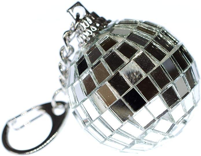 Miniblings Bola de Espejo llaveros partidarios Club de la Bola de Espejo del Disco: Amazon.es: Joyería