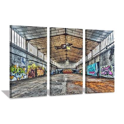 A0 SIZE CANVAS PRINT URBAN funny kids bike GRAFFITI STREET banksy ART