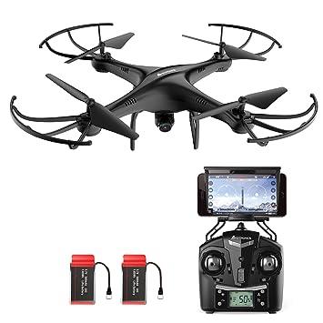 AMZtronics A15W Actualizada Drone con Cámara 720P HD, Dron WiFi ...
