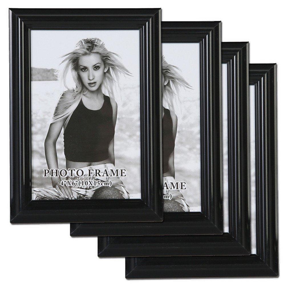 Giftgarden Bilderrahmen 10 x 15 cm Schwarz mit Glasscheibe ...