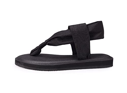 d3fd4c414df9 Amazon.com  Santiro Women Yoga Sandals Sling Non-Slip Flat Thong Flip Flops   Shoes