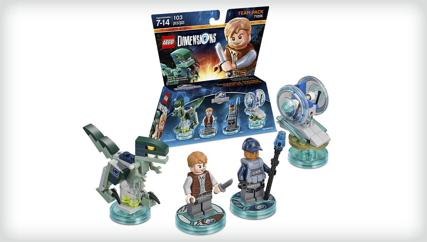 Pack Equipe Warner Bros 5051892187596 Owen /& Trooper Figurine Lego Dimensions Jurassic World