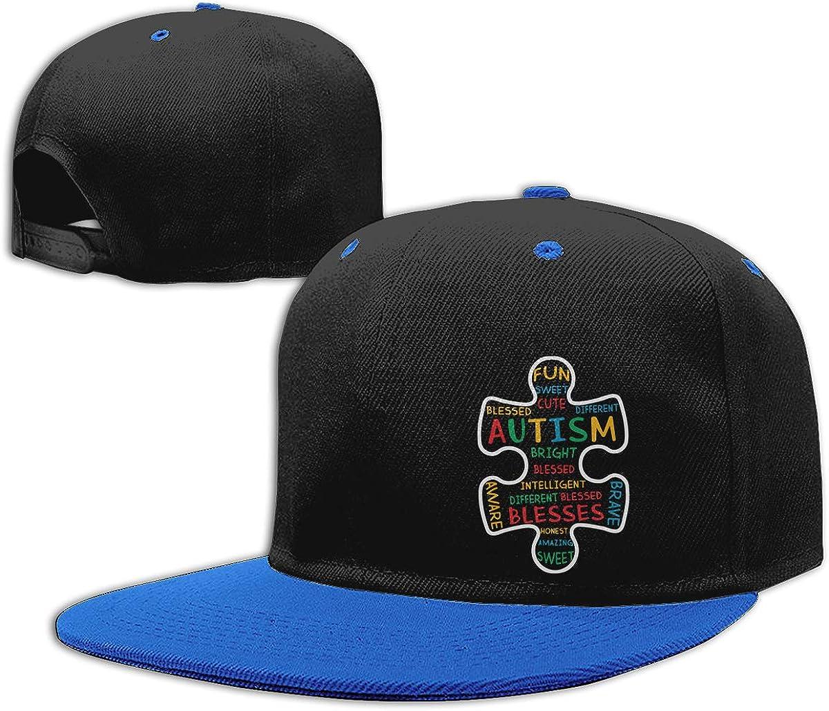 Autism Awareness Puzzle Piece Words Classic Hip Hop Baseball Caps Men Womens Hiphop Cap