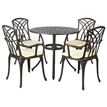 Charles Bentley Metal Cast Aluminium 5 Piece Stamford Garden Furniture  Patio Set With Cushions. Charles Bentley Metal Cast Aluminium 5 Piece Stamford Garden