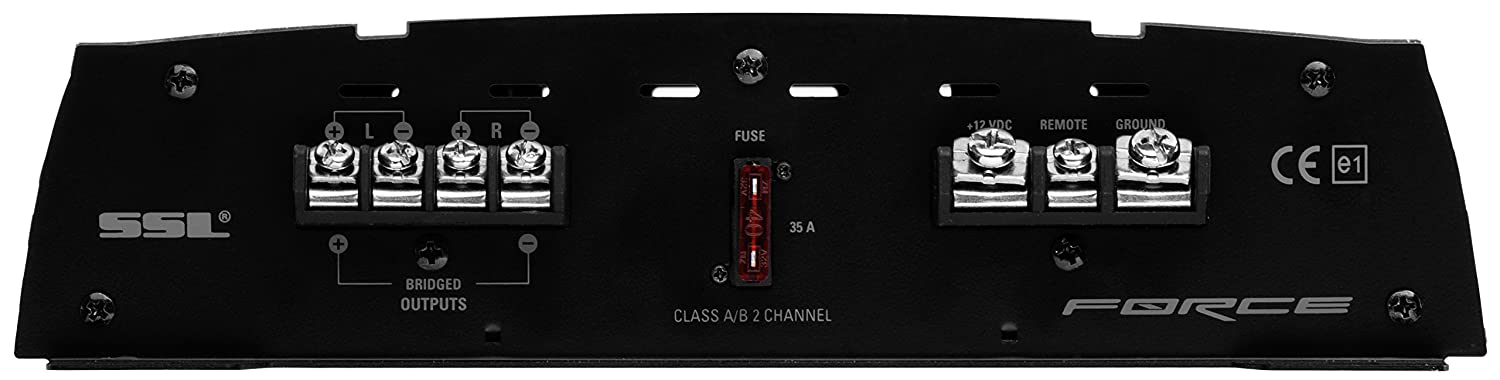 Bridgeable Full Range MOSFET Car Amplifier with Remote Subwoofer Control Sound Storm Laboratories 2 Channel 2 to 8 Ohm Stable Class A//B Sound Storm FR1000.2 Force 1000 Watt