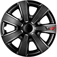 AutoStyle Set wheel covers VR 16-inch black/carbon-look/logo