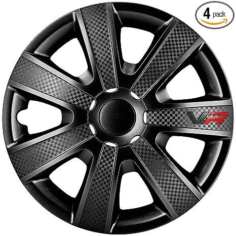 Amazon.com: Autostyle Set Wheel Covers VR 16-inch Black ...