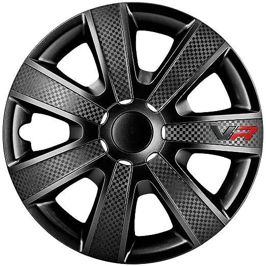 97 opinioni per AutoStyle VR Nero Set Copricerchio Vr Nero/Carbon Look/Logo, 4 pezzi
