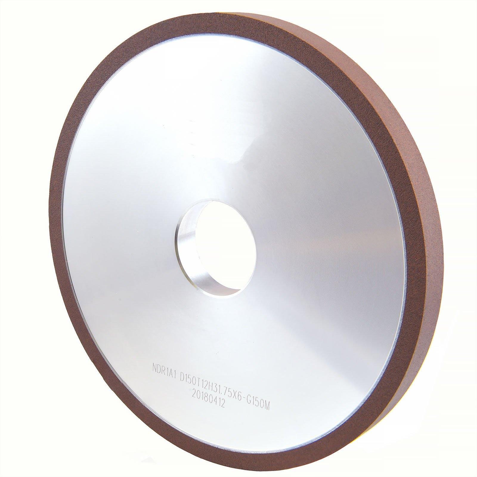MaxTool NDR1A1D6T12X6G22 Diamond Plain wheels; OD 6''; Bore 1.25''; Thickness 0.50''; Grit 220; Resin Bond