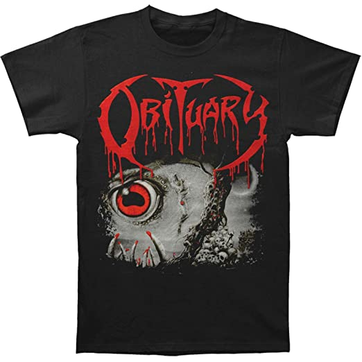 a206928c4 Image Unavailable. Image not available for. Color  Obituary Men s Cause Of Death  T-shirt ...