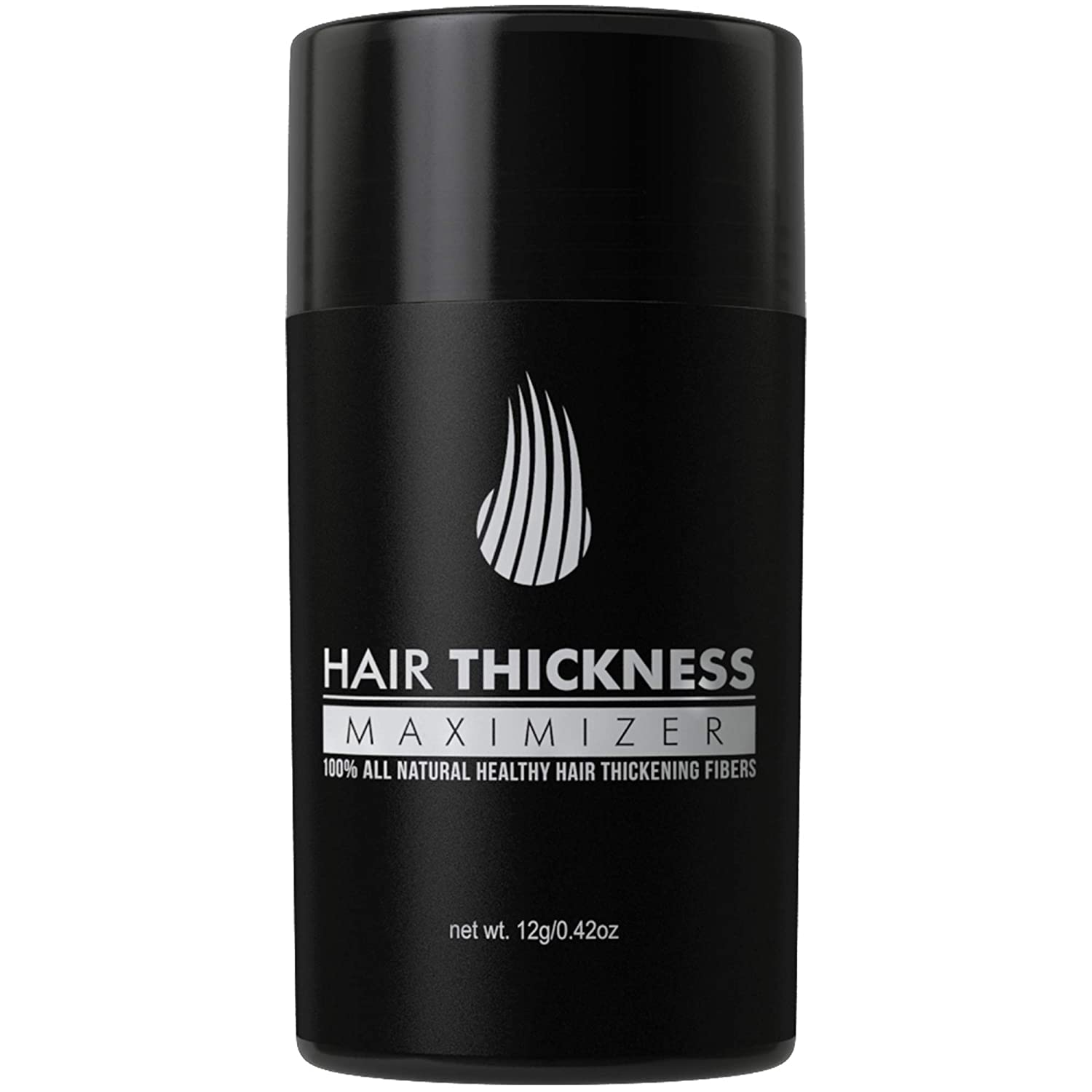 Hair Thickness Maximizer 2.0 - Safer Than Keratin Hair Building Fibers with 2nd Gen All Natural Plant Based Hair Loss Concealing Fillers for Instant Thickening of Thinning or Balding Hair (Dark Brown): Beauty