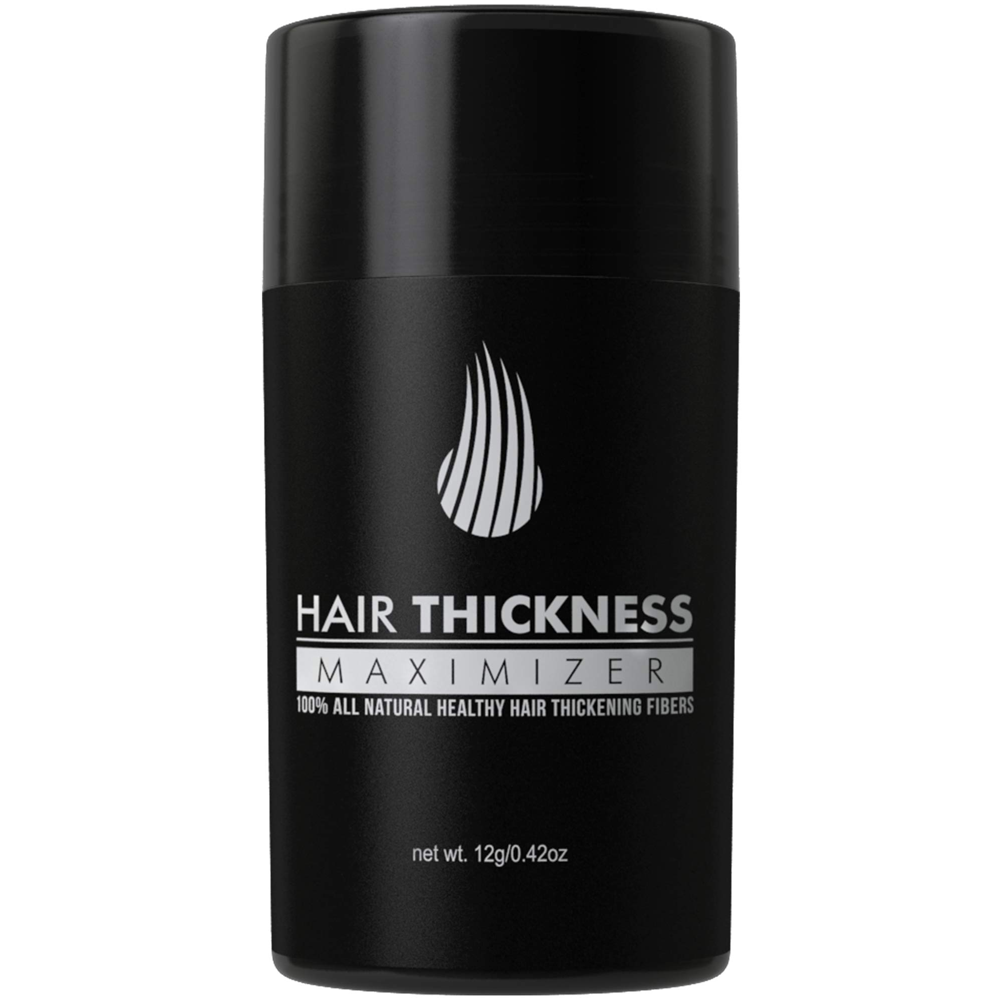 Hair Thickness Maximizer 2.0 - Safer Than Keratin Hair Building Fibers With 2nd Gen All Natural Plant Based Hair Loss Concealing Fillers For Instant Thickening of Thinning or Balding Hair