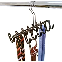 ArtMoon Shiva Tie and Belt Hanger Rack Mens Organiser 14 Special Steel Hooks 26.5X10X17cm