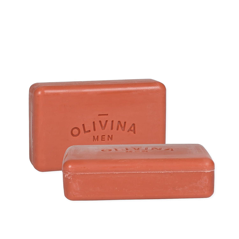 Olivina Men Bourbon Cedar Exfoliating Bar Soap - 2 Pack