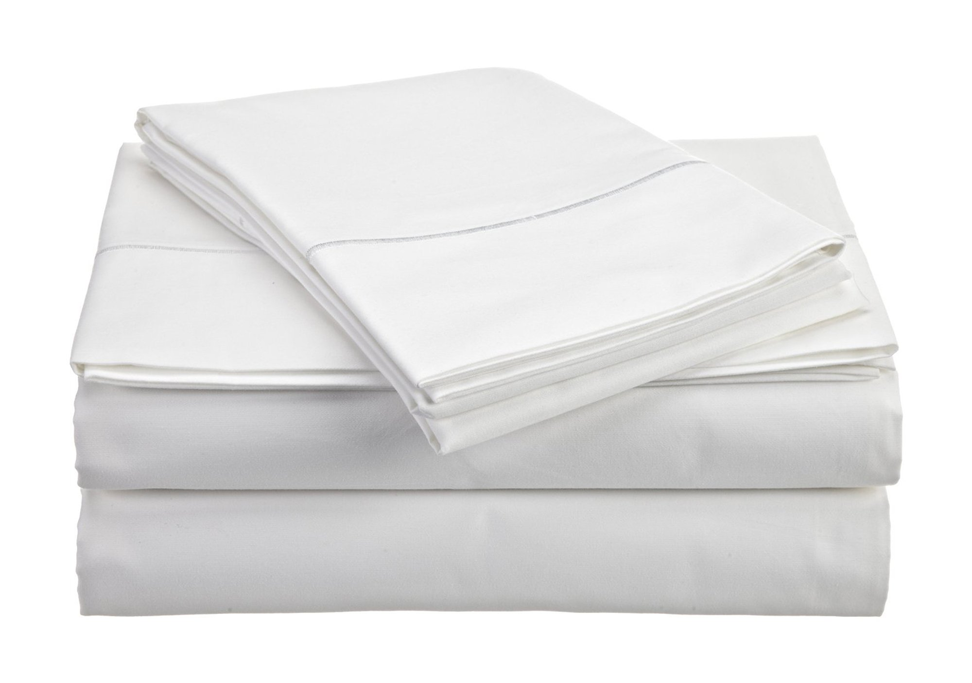 Chateau Home Collection 800-Thread-Count Egyptian Cotton Deep Pocket Sateen Weave Sheet Set (SPLIT KING, White)