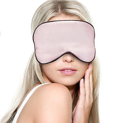 youngmi Natural Seda Máscara de ojo dormir máscara Super suave venda ULTRA ligero cómodo con correa