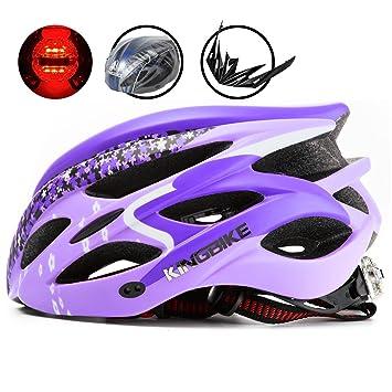 KINGBIKE Hembra Ciclismo Casco de Bicicleta Casco Hermosa Cherry Mujer Doble para Bicicleta de Montaña y