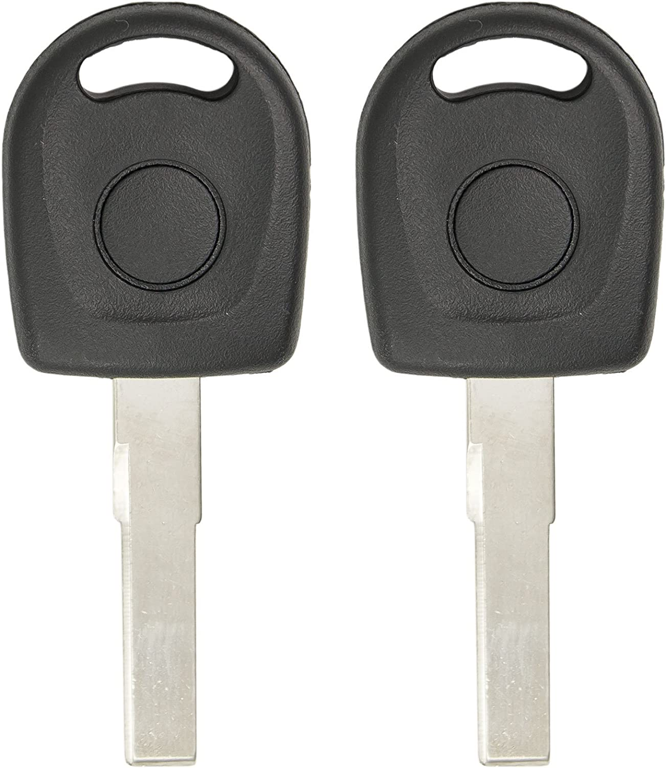 2 Pack Keyless2Go New Uncut Replacement Transponder Ignition Megamos 48 Chip Car Key HU66T6